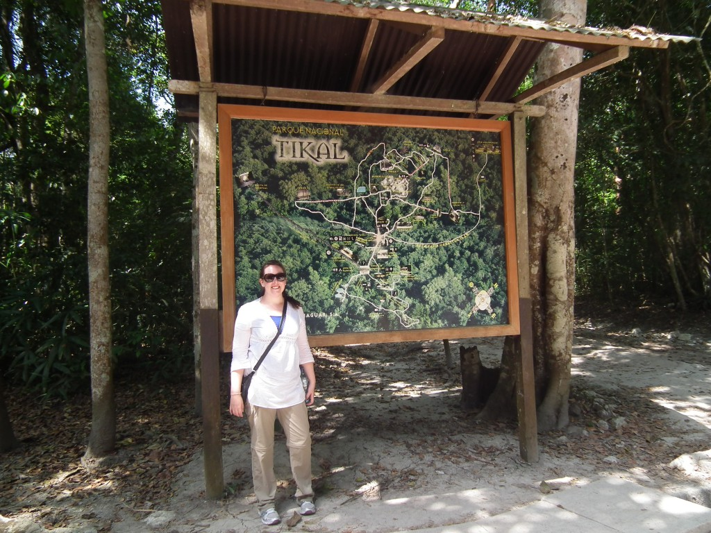 At the Entrance of Tikal National Park