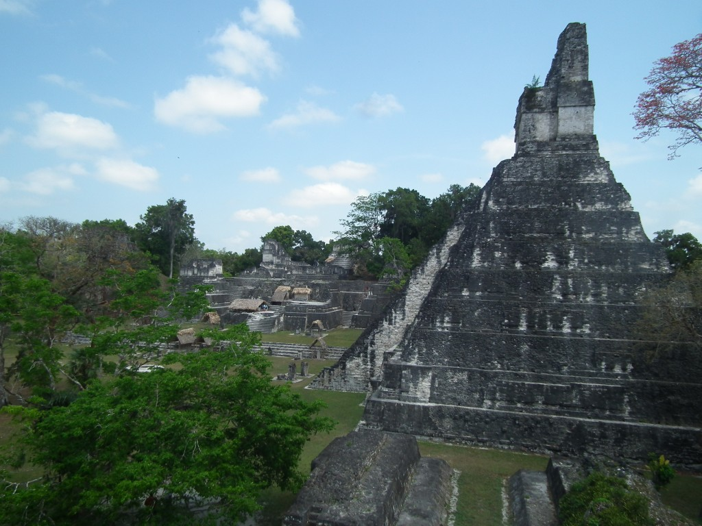 View across the main complex in Tikal National Park