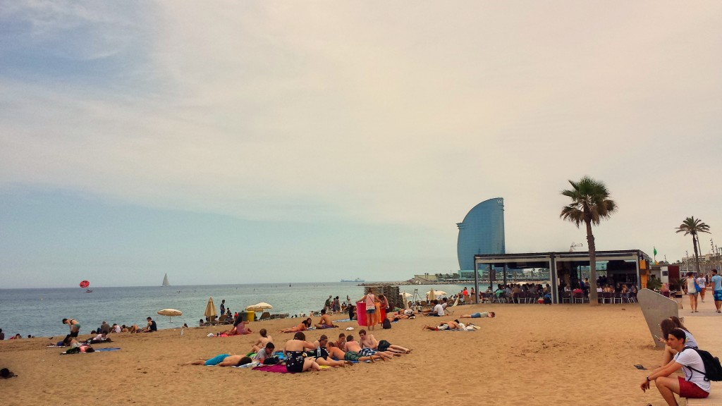 The beach at La Barceloneta