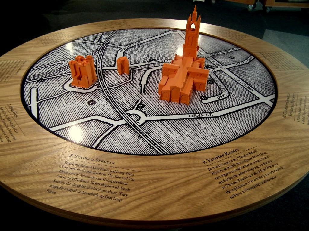 3D Map of Castle site