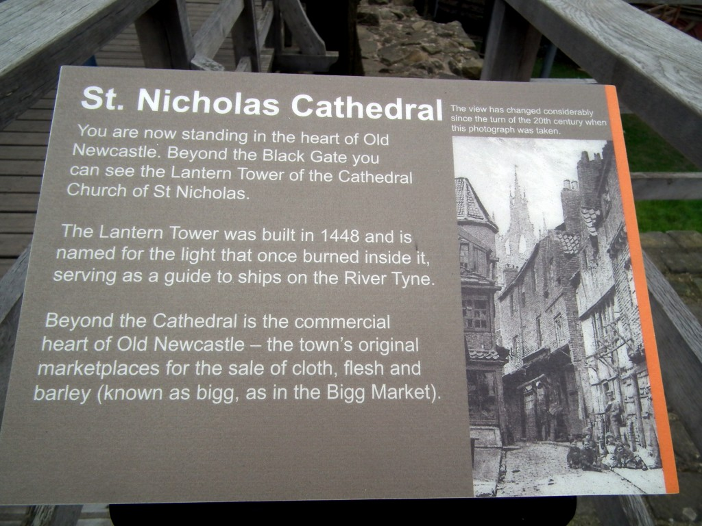 History information points at Newcastle castle