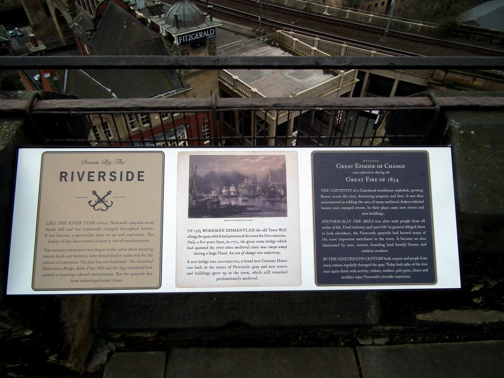 Information boards at top of Castle