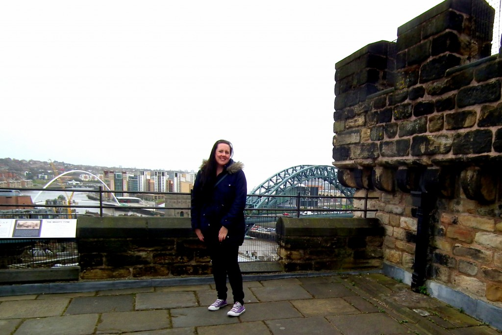 At the top of Newcastle Castle Keep