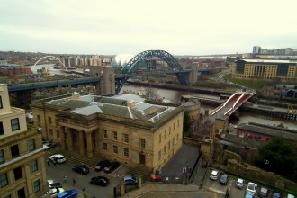 View of Newcastle-Upon-Tyne riverside