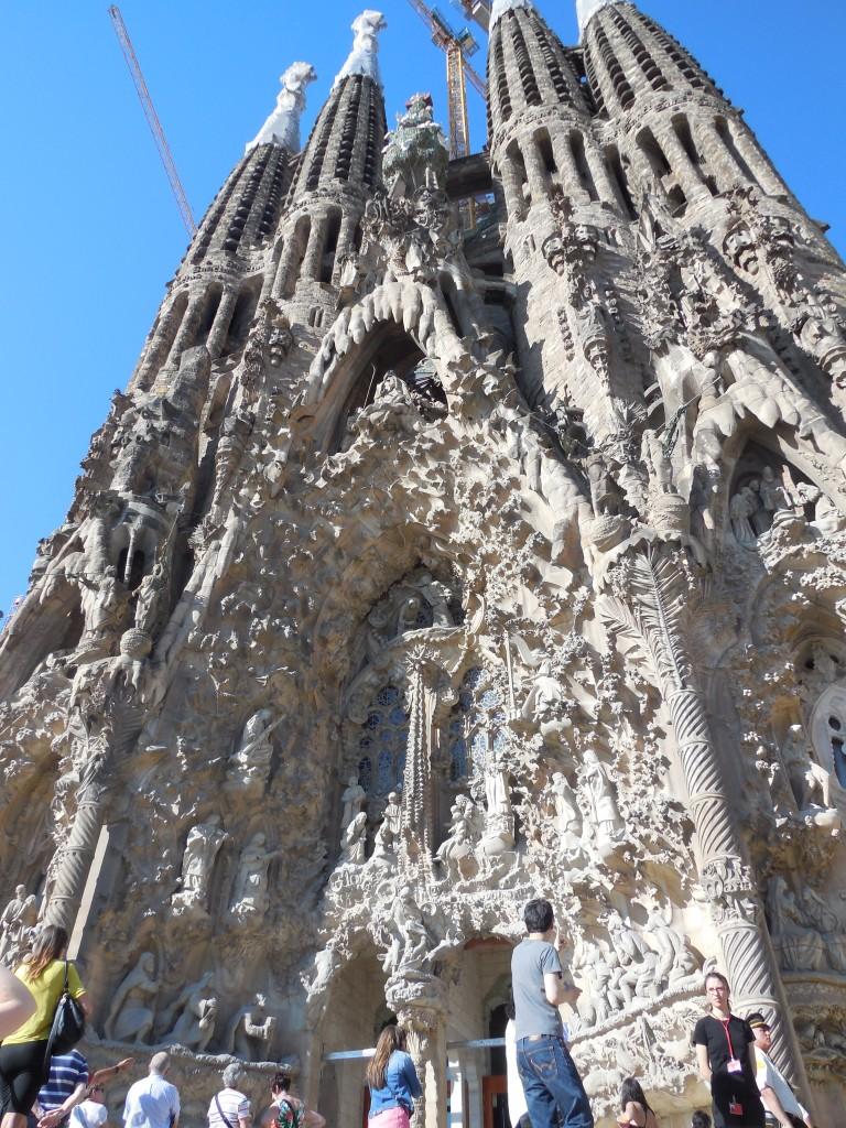 Entrance to La Sagrada Familia