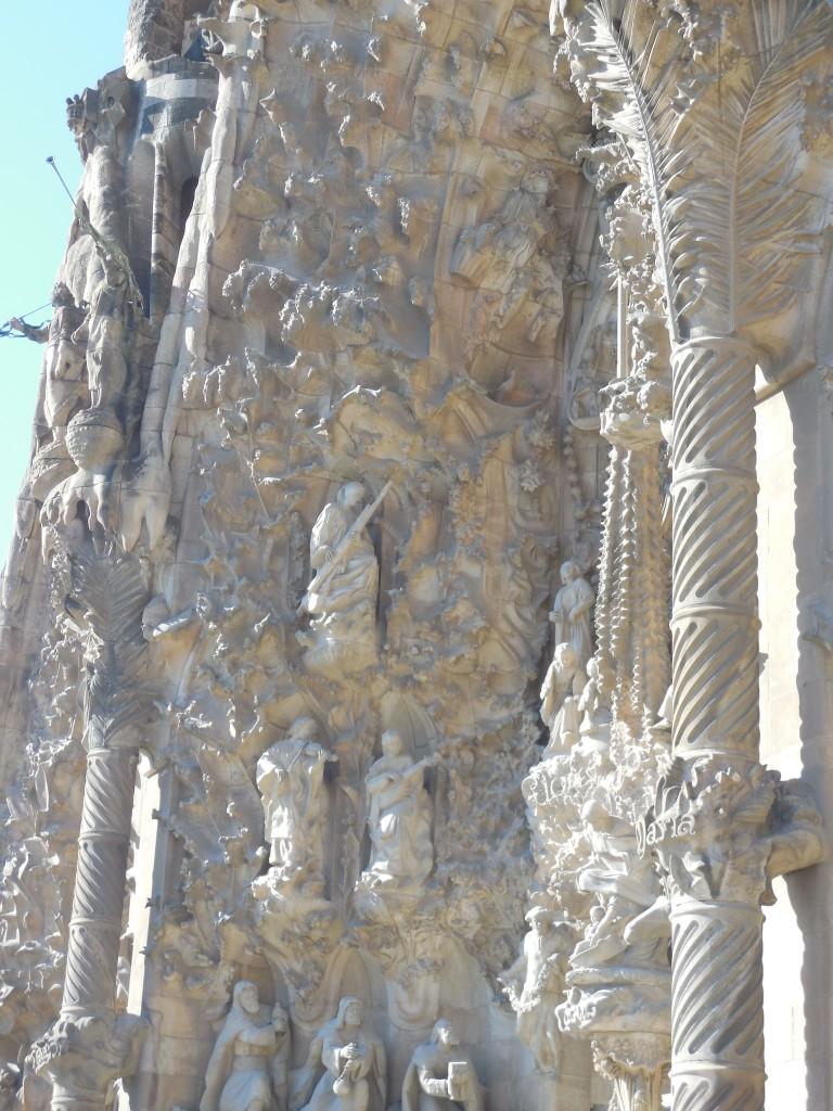 Exterior Artwork on La Sagrada Familia