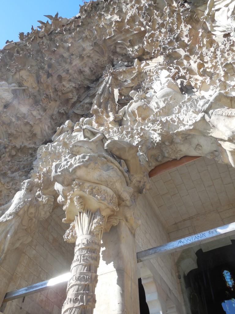 Detail of art on La Sagrada Familia