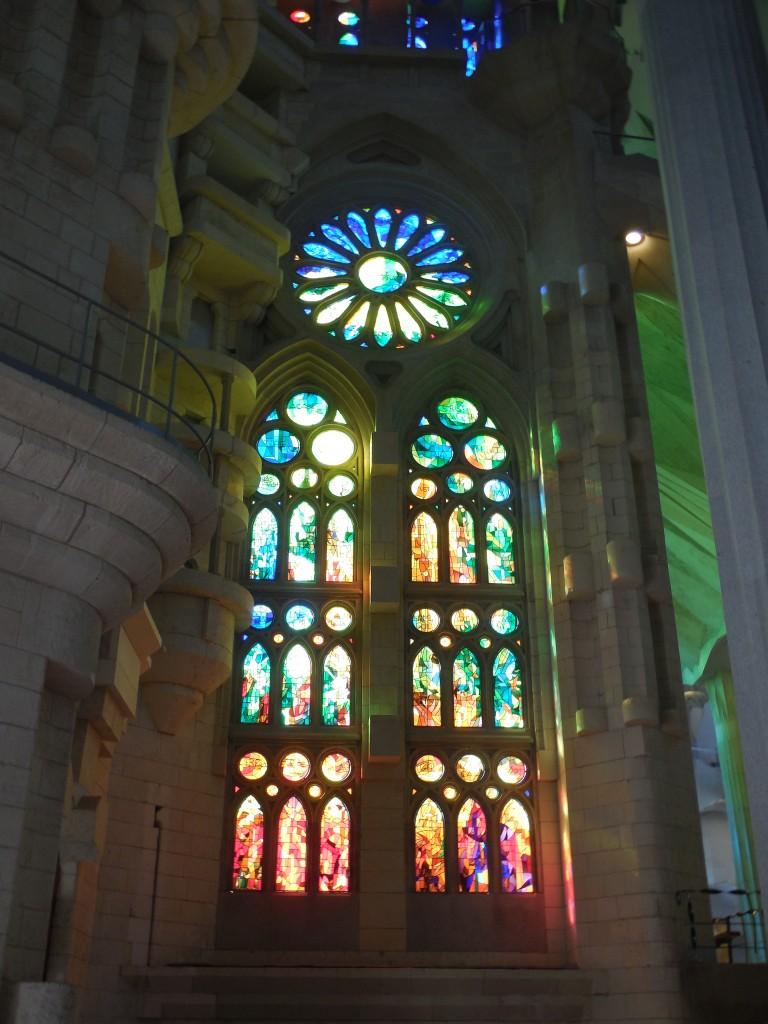 Stained glass in La Sagrada Familia