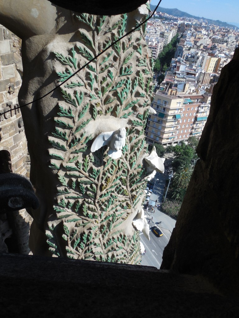 Decoration on Nativity Tower, La Sagrada Familia