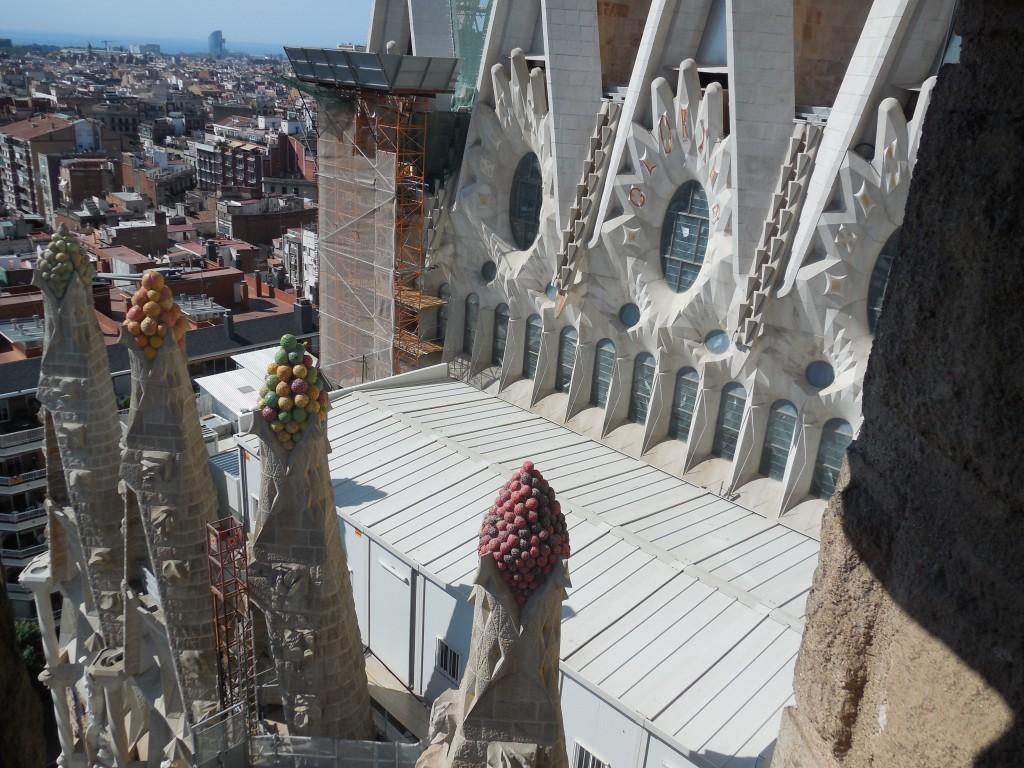 Spires on Nativity Tower, La Sagrada Familia
