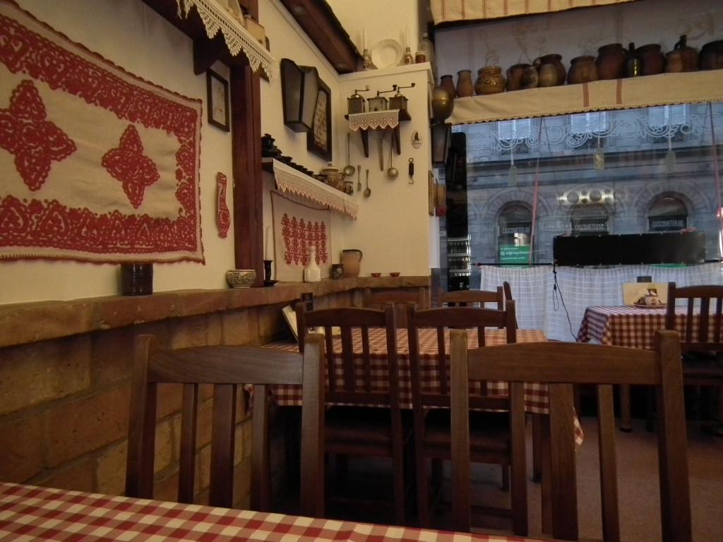 Small restaurant with a few tables