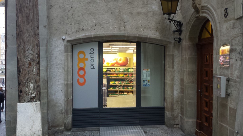 Coop shop in Geneva