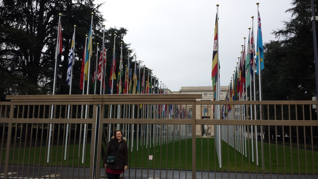At the gates of the United Nations Headquarters