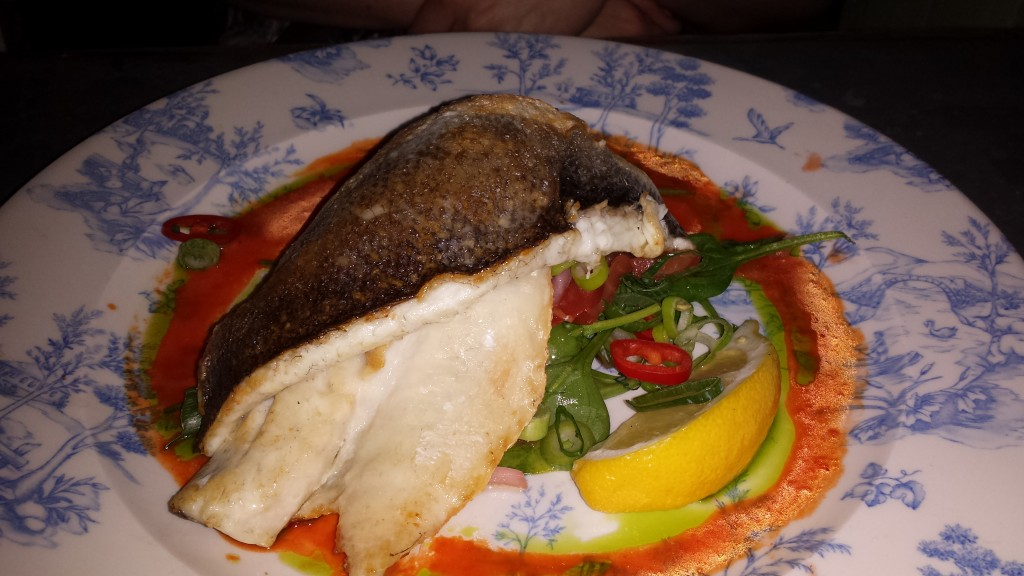 Sea bass at The Botanist