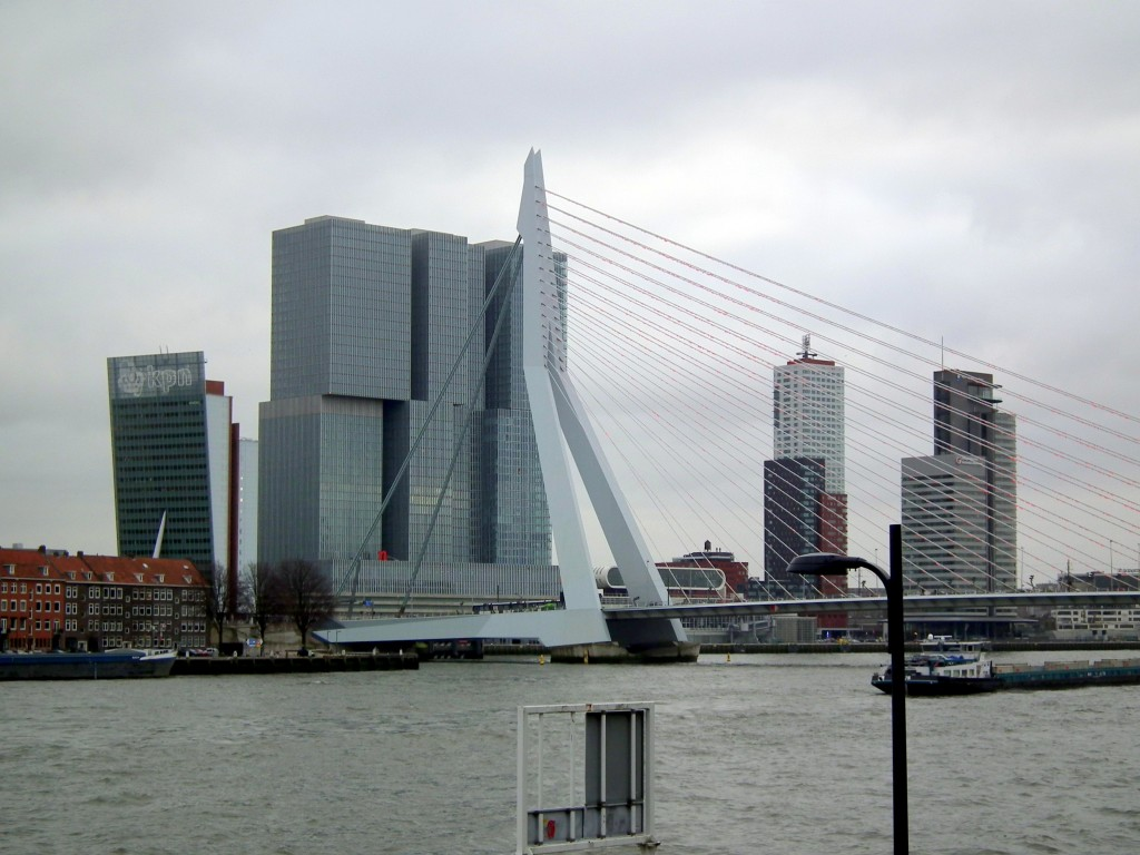 Erasmus Bridge and Skyline Rotterdam