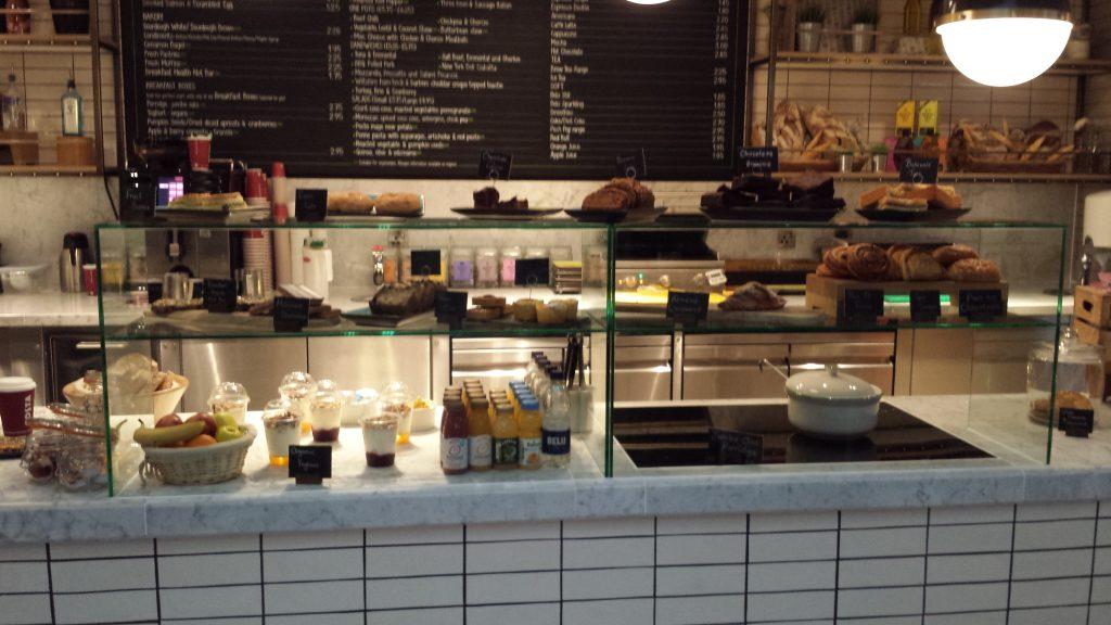 Cafe food Hub by Premier Inn London