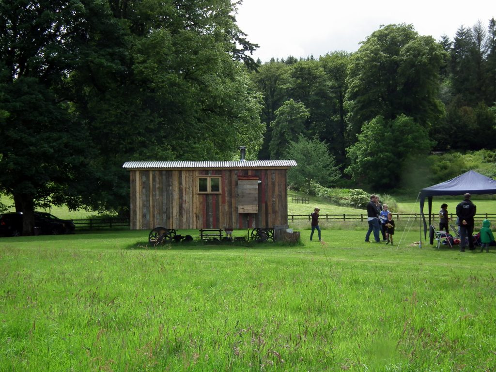 Glamping at Hesleyside Hall