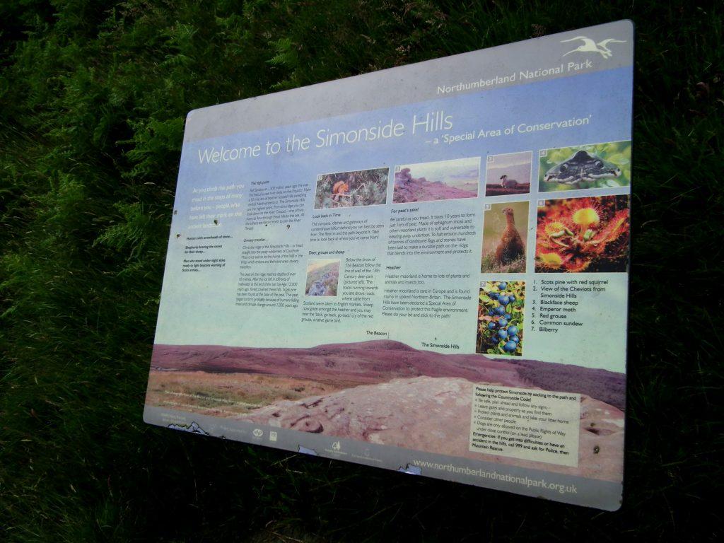 Simonside Hills sign