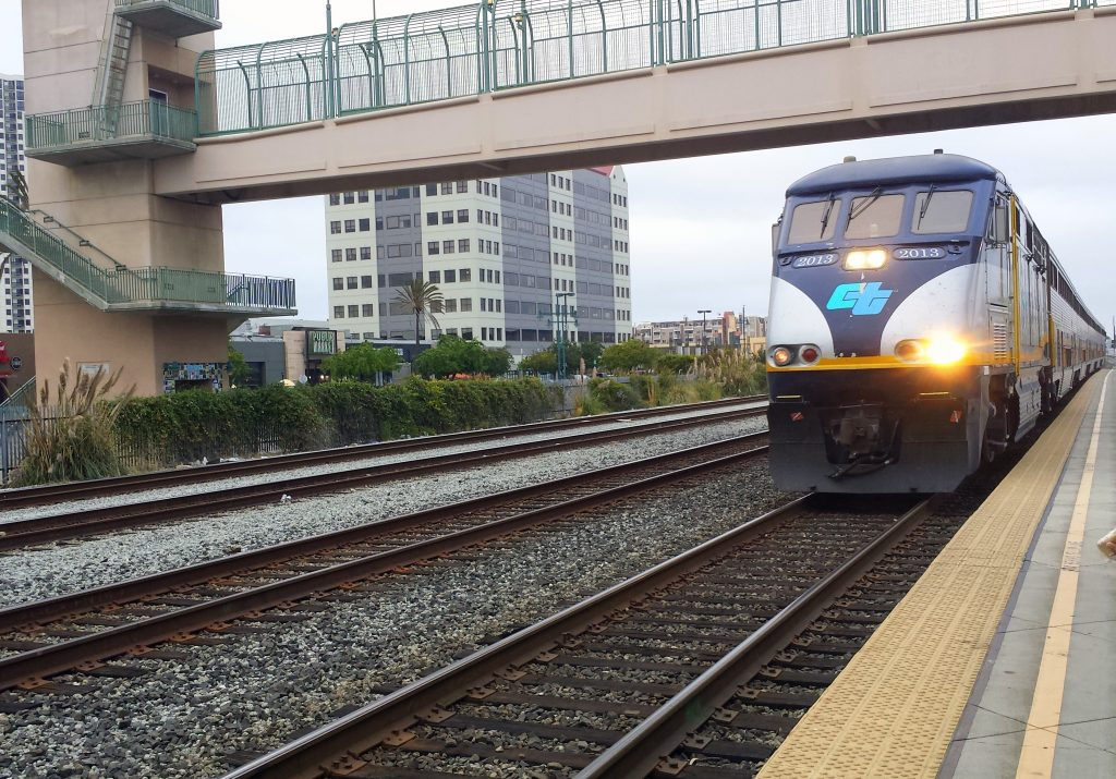 Train, Amtrak, California