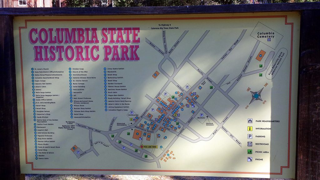 Columbia State Park map