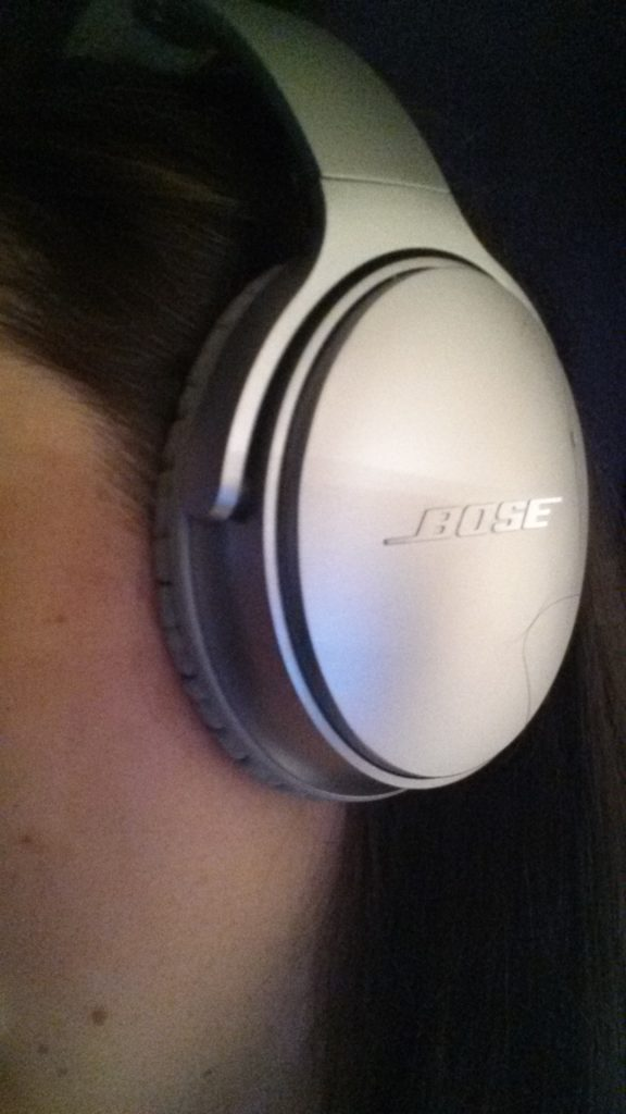 Bose headphones from side