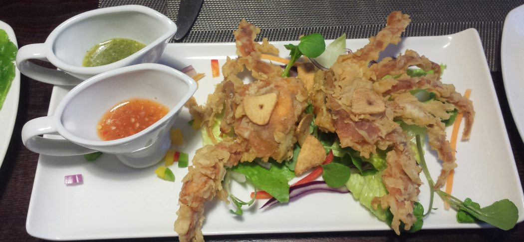 Soft shell crab at Mantra Thai