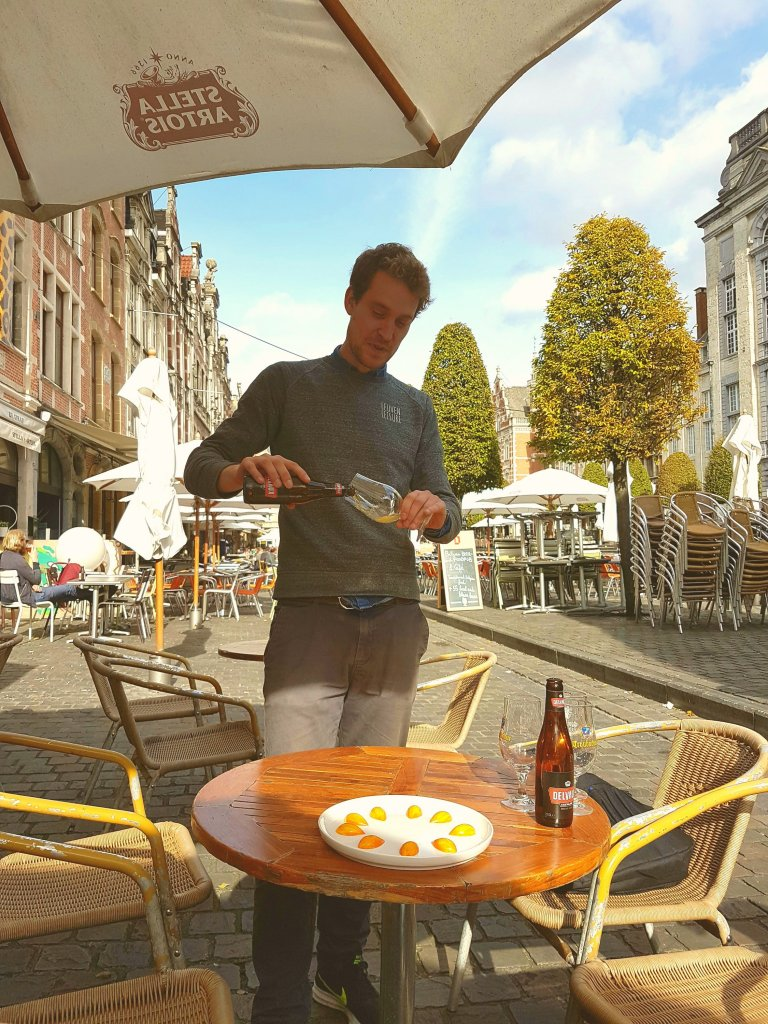 Beer and chocolate in Leuven